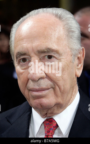 Shimon Peres, Israel, Deputy Prime Minister of Israel and Nobel Peace Prize winner, in Passau, Bavaria, Germany, - Stock Photo