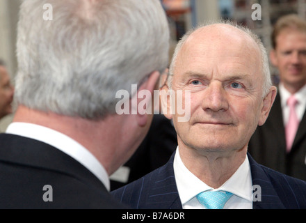 Ferdinand K. Piech, at right, chairman of the supervisory board of the Volkswagen AG, and Martin Winterkorn, chief - Stock Photo