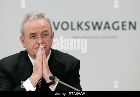 Martin Winterkorn, chief executive officer of Volkswagen AG, during the financial statement press conference on - Stock Photo