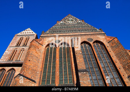 Church of St Nicholas in the historic city centre of Wismar, UNESCO World Heritage Site, Hanseatic League city of - Stock Photo