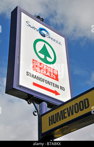 Adverstising sign for Spar supermarket in Port Elizabeth, Ostkap, South Africa, Africa - Stock Photo