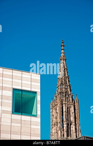 Assemblage Weishaupt and Ulmer Muenster, Ulm, Baden-Wuerttemberg, Germany, Europe