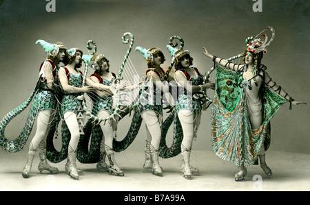 Historical photo, ice ballett, Admiralspalast, Berlin, Germany, ca. 1910 - Stock Photo
