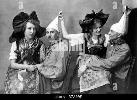 Historical photo, national costume group, ca. 1920 - Stock Photo
