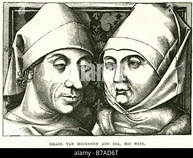 Israhel van Meckenem (also known as Israhel van Meckenem the Younger, c. 1445 – 1503) was a German printmaker and - Stock Photo