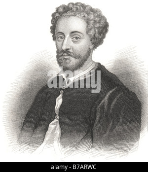 John Fletcher (1579 – 1625) was a Jacobean playwright. Following William Shakespeare as house playwright for the - Stock Photo