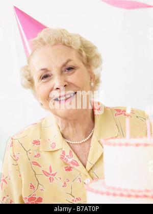 Senior Celebrating Birthday