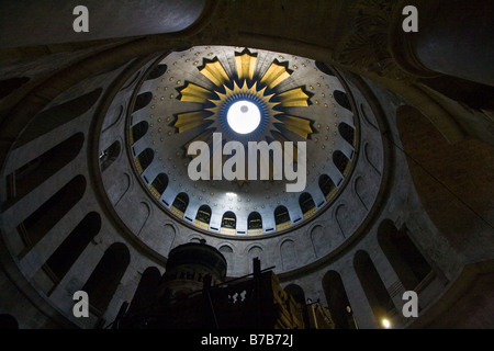 Interior Dome at the Church of the Holy Sepulchre in Jerusalem - Stock Photo