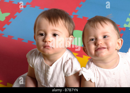 Baby twins - Stock Photo