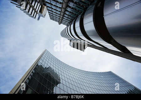 The Lloyds and neighbour building shot from an unusual angle - Stock Photo