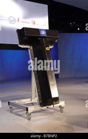 Chevrolet Volt lithium-ion battery pack at the 2009 North American International Auto Show - Stock Photo