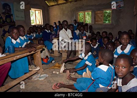 Primary Education in Kenya.  Sagam, Nyanza Province, Western Kenya - Stock Photo