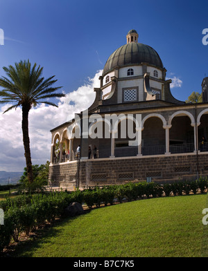 Roman Catholic Franciscan chapel on Mount of Beatitudes in the Galilee - Stock Photo