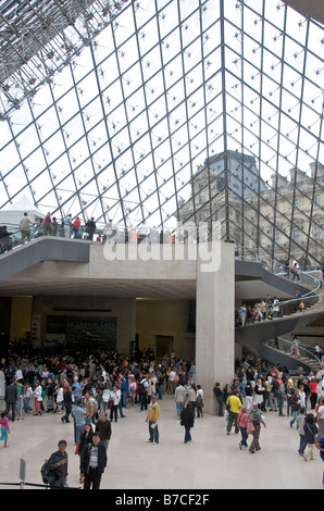 Stairs in Louvre Museum, Paris, France, Europe - Stock Photo