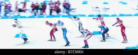 World Cup Nordic Event at the 2010 Whistler Olympic Park - Stock Photo