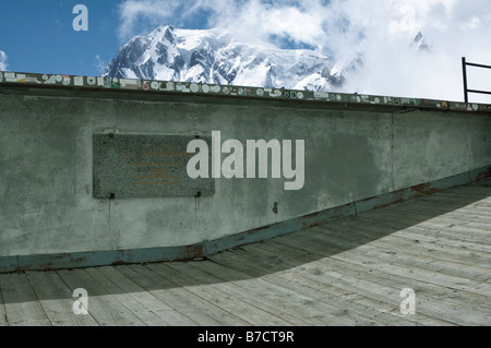 Point Helbronner viewing platform, French Alps - Stock Photo