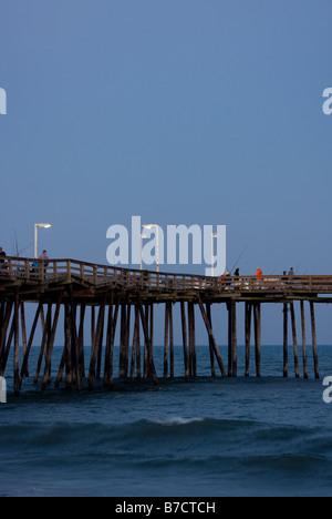 Avon Pier, Outer Banks, North Carolina - Stock Photo