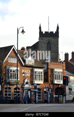 Moseley village centre, Birmingham, England, UK - Stock Photo