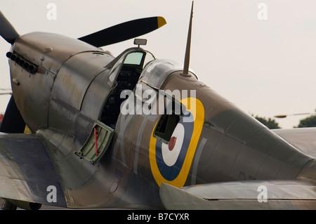 British World War Two fighter aircraft Hawker Hurricane at Biggin hill Air Fair June 2008 - Stock Photo