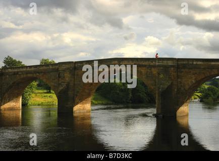 Old bridge over River Tyne, Haddington, East Lothian ...