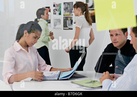 Creative business people in a meeting - Stock Photo