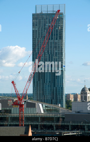 The Beetham Tower, also known as the Hilton Tower, Manchester, England, UK - Stock Photo