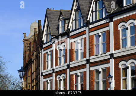Buildings in St Mary s Row Moseley Birmingham England UK - Stock Photo