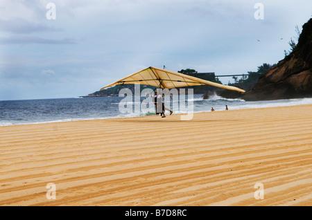 hand gliding in Rio De Janeiro - Stock Photo