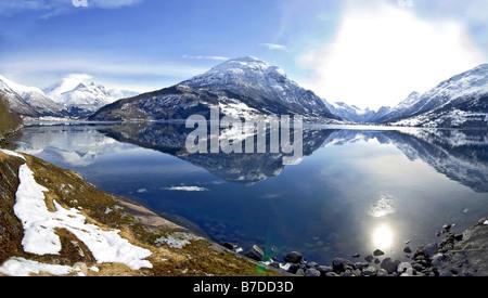 Innvikfjord in Stryn, Norway - Stock Photo