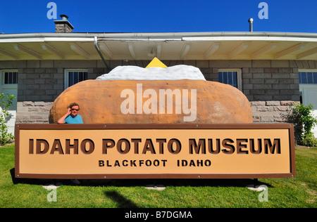 The Idaho Potato Museum at Blackfoot in Idaho, United States of America - Stock Photo