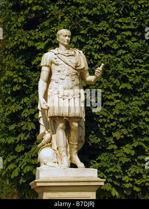 Statue of Julius Caesar, Tuileries Gardens, Paris, France - Stock Photo