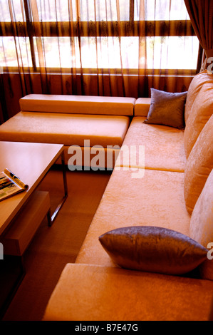 Home interior and furnitures of modern style - Stock Photo