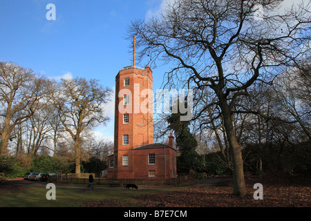 The Semaphore Tower on Chatley Heath Surrey England - Stock Photo