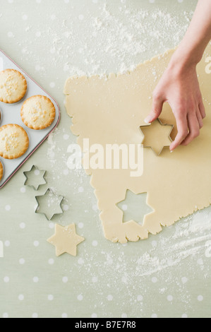 Making mince pies and cookies - Stock Photo