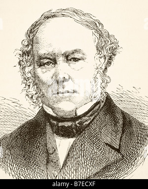 Sir Rowland Hill 1795 to 1879 Reformer of British postal service - Stock Photo