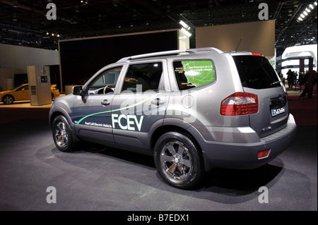 Kia Borrego FCEV at the 2009 North American International Auto Show in Detroit Michigan USA - Stock Photo