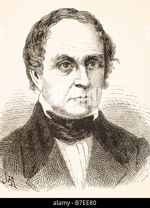 Daniel Webster, 1782 to 1852.  American lawyer, United States Senator Secretary of State and orator. - Stock Photo