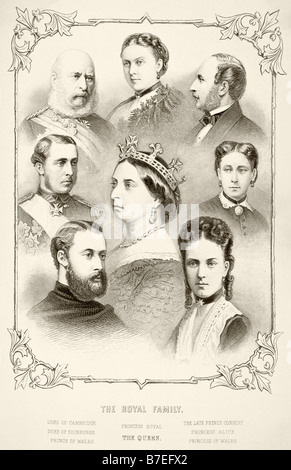 The Royal Family of Queen Victoria - Stock Photo