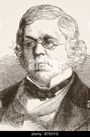 William Makepeace Thackeray 1811 to 1863 English novelist - Stock Photo