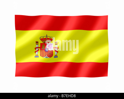 Spain Spanish National Flag - Stock Photo