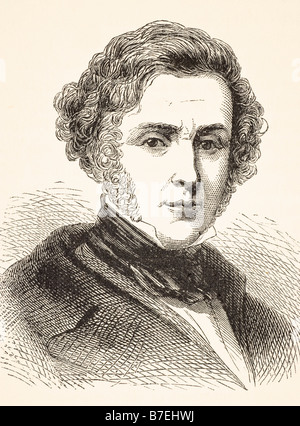 Anthony Ashley Cooper Seventh Earl of Shaftesbury 1801 to 1885 English philanthropist also known as Lord Ashley - Stock Photo