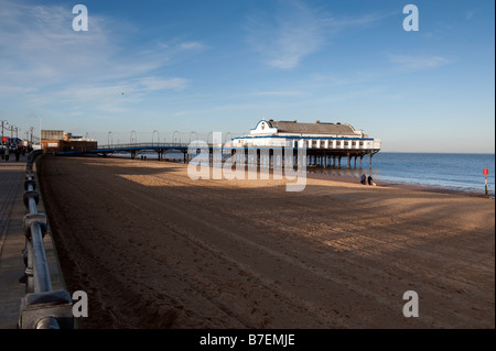 Cleethorpes pier, North Lincolnshire,Great Britain - Stock Photo