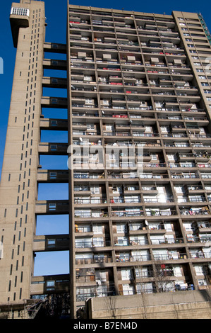 Trellick Tower designed by Erno Goldfinger in West London, UK - Stock Photo