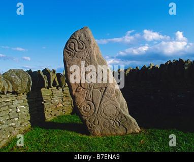 Aberlemno I (The Serpent Stone), Aberlemno, Scotland, UK. A Pictish symbol stone dating from the seventh century AD