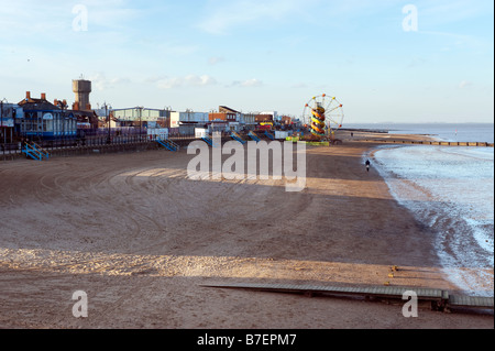 Cleethorpes beach, North East Lincolnshire,Great Britain - Stock Photo