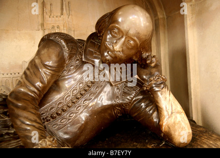 William Shakespeare memorial in Southwark Cathedral, London - Stock Photo