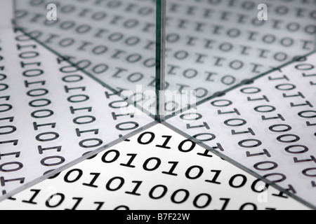 Binary background reflected - Stock Photo