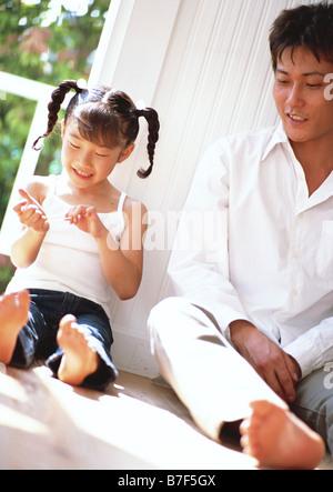 Family holiday communication - Stock Photo