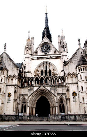 London The Royal Courts of Justice the Law England - Stock Photo