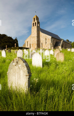 Saint Micheal's Church in the estate village of Ford in Northumberland, England - Stock Photo
